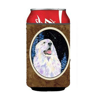 Starry Night Great Pyrenees Can Or bottle sleeve Hugger 12 oz.