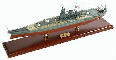 "YAMATO WWII Japanese Navy Battleship 30""' Built Wooden ES Model Ship Assembled"