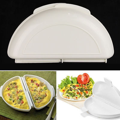 2X Microwave Omelet Mold Poach Cooking Cooker Pan Maker Egg Poacher Kitchen Tool