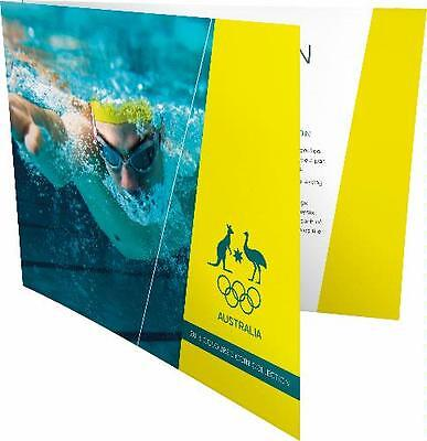 2016 $2 Swimming Australian Rio Olympic Games Team Coin Set Of 5 Coloured Coins