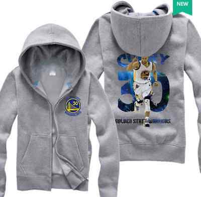 Golden State - Stephen Curry Sc 30 Kids Boys Youth Zip  Hoodie Sweater Gray