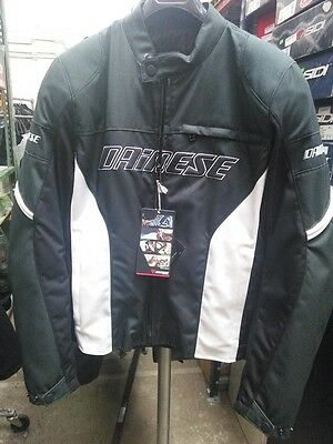 Dainese Motorcycle Racing Textile Jacket Anthracite White  Size EU 58
