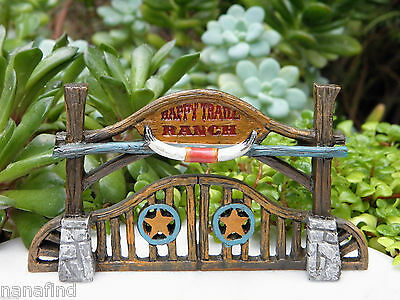Miniature Dollhouse FAIRY GARDEN House ~ Wild West WESTERN Saloon ~ NEW