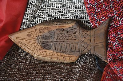 Australian Aboriginal Hand Carved Wooden Fish …beautiful display piece