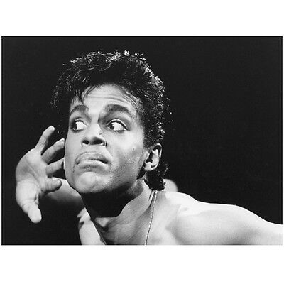 Prince Head Shot Holding Hand to Ear Listening to Crowd 11 x 14 inch photo