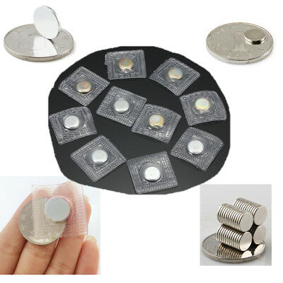 10/20x Hidden Invisible Sew Magnetic Snaps Magnet Button Purse Closure Fastener