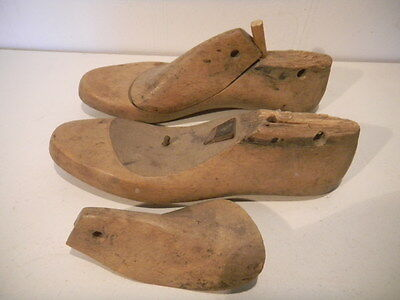 Schusterleisten Holz wooden shoe stretchers um 1900