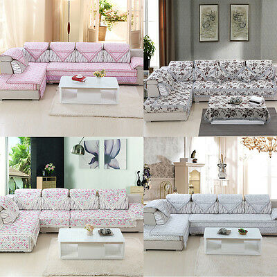 Living Room Furniture Removable Stretch Lounge Corner Couch Sofa Cover Slipcover