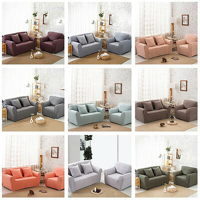 Lounge Couch Stretch Living Room Sofa Towel Protective Slip Cover 1-2-3-4 Seater