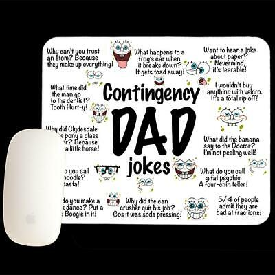 Father's Day Mouse pad, Contingency Dad Jokes Mouse Pad, Dad gift, Funny mous...