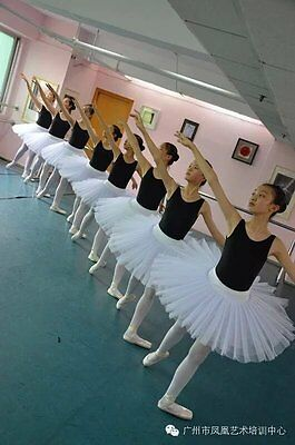 Adults Ballet Dance Tutu Costume Princess Skirt 5 Layers Organdy White/Black