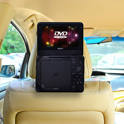 Car Headrest Mount with strap for Non Swiel Portable DVD Player - 7 inch
