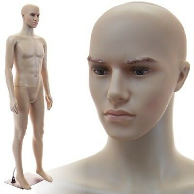 Realistic Standing Male Adult Mannequin + Base (F-02B)