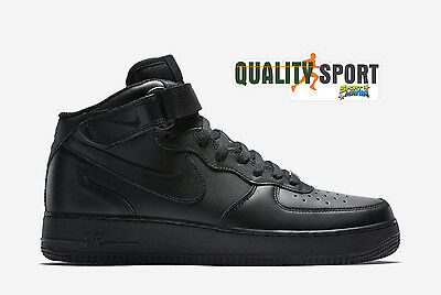 Nike Air Force 1 Mid  07 Nero Scarpe Shoes Uomo Sportive Sneakers 315123 001 857c80d5d7e