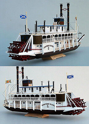 New 1:100 US Western River Mississippi Paddle Steamboat Handcraft Paper Model