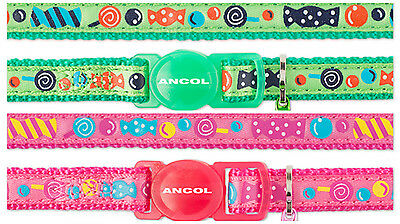ANCOL SWEETIES PRINT CAT COLLAR with or without Engraved ID Tag