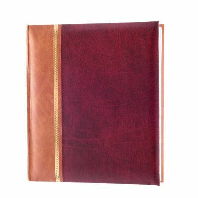 Grace Burgundy 7x5 Slip In Photo Album - 200 Photos