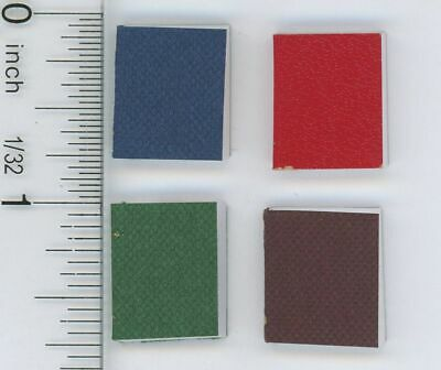 Dollhouse Miniature 1:12 Scale Set of Four Bound Books