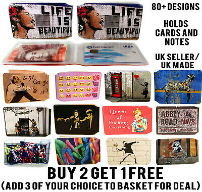 Banksy / Streetart Bus Pass Wallet Credit Travel Rail Id Holder For Oyster Lot