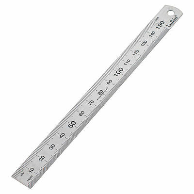 2x Lufkin STAINLESS STEEL RULE Rustless With Carry Sleeve-150mm,300mm,600mm Or1m