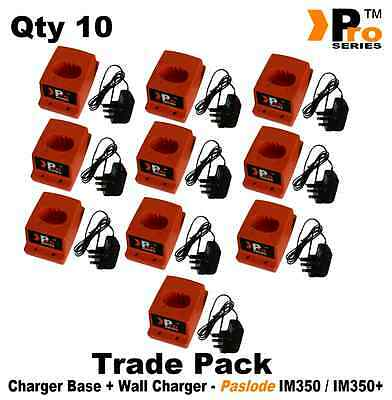 10 x REPLACEMENT CHARGER BASE AND AC/DC ADAPTER FOR PASLODE