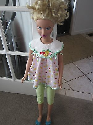 "My Size Life Sized White Caucasion Barbie 38"" Tall by Mattel Just Play 2005 CUTE"