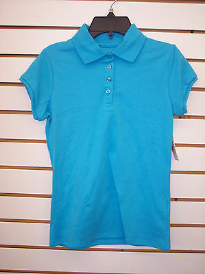 Girls Copper Key ASSORTED Color Polo Uniform Shirts Size 4/5 - 18