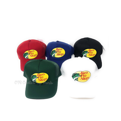 51aedcb794c BASS PRO SHOPS Authentic Mesh Cap Hat Fishing Outdoor 6 Panel NWT ...