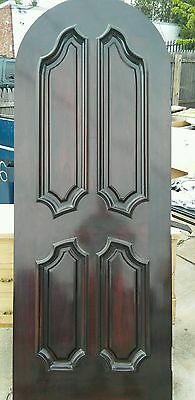 Solid Wood Mahogany Interior Door. 30 inch ARCH Doors New no jams