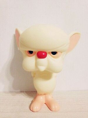 """90s vintage Warner brothers pinky and the brain 6"""" figure rare rubber toy"""
