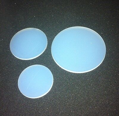 2 x Bespoke Nylon Discs 1mm thk - pick your own outside diameter from drop box