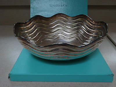 Tiffany & Co sterling silver swirl clam shell centerpiece bowl Italy 1985 rare