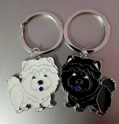 Cream and Black Chow Chow Keychain Large