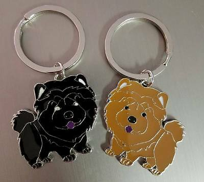 Red and Black Chow Chow Keychain Large