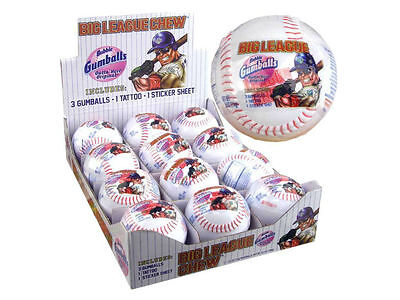 Big League Original Flavor Tasty Chew Baseball with Tattoo Sticke r Bubblegum