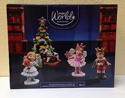 Miniature FAIRY GARDEN Mini Village ~ Nutcracker CHRISTMAS Starter Gift Set NEW