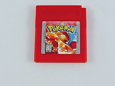 Pokemon Red Version Nintendo GAME BOY 1998 TESTED SAVES Authentic game cartridge