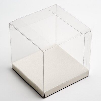 Clear Cube Square Box + Black / White Display Insert Packaging: Soaps Candles