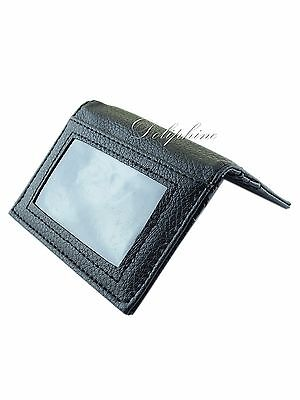 Leather Slim Wallet ID Photo holder with 6 card slots