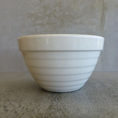 Vintage Crown Lynn Pottery Mixing Bowl 1Ltr Cream New Zealand Pottery Beehive