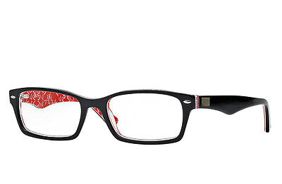 Ray-Ban Reading glasses Rayban Model RB5206  Black/Red texture