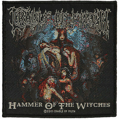 Cradle Of Filth Men's Hammer Of The Witch   - WOVEN SEW ON PATCH - free shipping