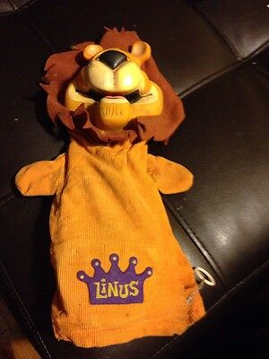 1965 Mattel Linus The Lion Hearted Talking Doll Hand Puppet Lionhearted