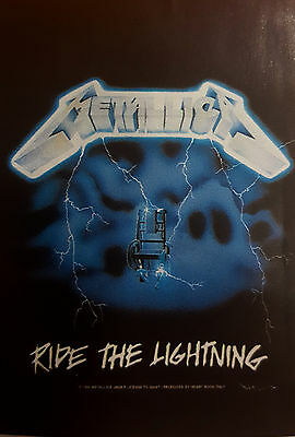Metallica Ride The LightningTextile Poster Banner Flag Official Rock Music