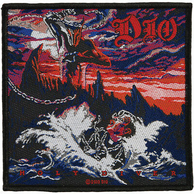 DIO holy diver cover 2010  - WOVEN SEW ON PATCH - free shipping