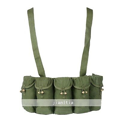 Surplus Chinese Type 56 Semi Ammo Chest Rig Magazine Bag Pouch Sks Rifle