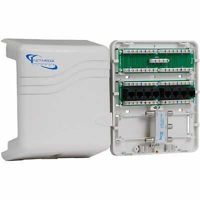 ICC Mini Combo Voice/Data/Video Structured Wiring Enclosure ICRDSMMBK1