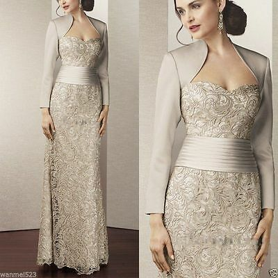 Mother of the Bride/Groom Lace Dress Wedding Party Prom Formal Evening Outfits