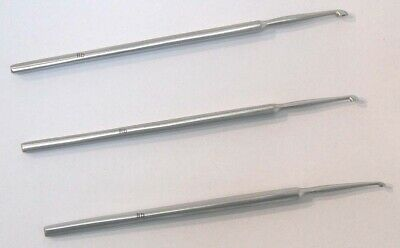 3 Pcs Set Meyhoefer Chalazion Ear Curette Surgical, ENT,Instruments Good Quality
