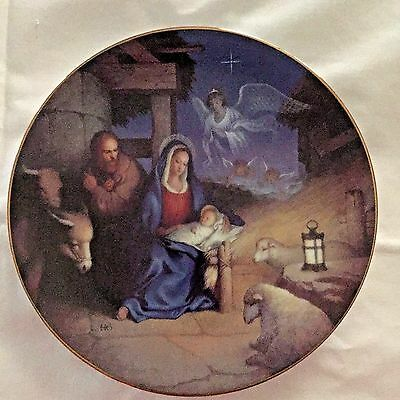 Vintage 1992 The Nativity #4 in The Christmas Story Collector Plate Series